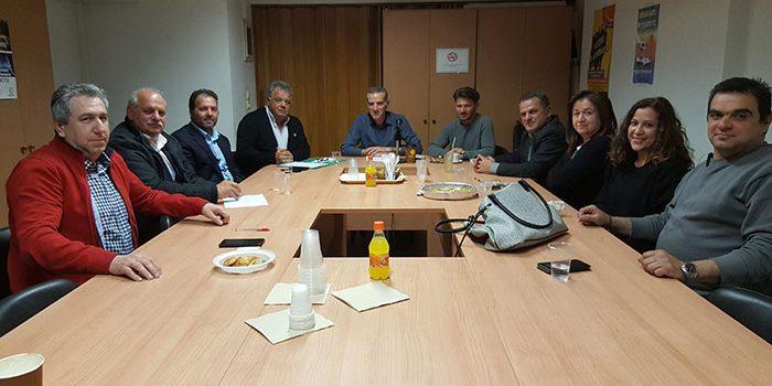 Συνάντηση Ηλία Λυγερού με το προεδρείο της ΟΕΒΕΝΗ
