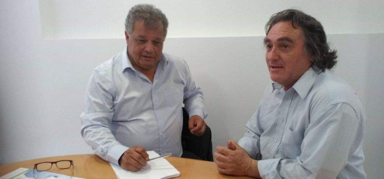 Συνάντηση του Ηλία Λυγερού με το μέλος του ΔΣ του ΠΑΣΕΚΑΚΔΑΠ Αντώνη Διαμαντή
